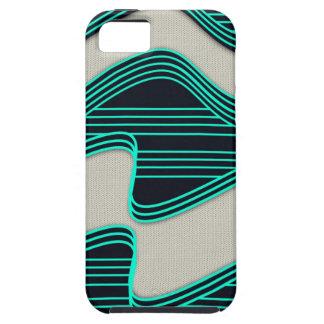 Líneas de neón impresión de la onda del trullo funda para iPhone 5 tough