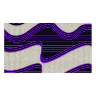 Líneas de neón púrpuras impresión de la tela blanc tarjetas de visita