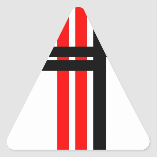 Líneas de Orthagonal Pegatina Trianguladas Personalizadas