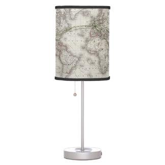 Líneas de telégrafo del mundo del vintage mapa (18 lámpara de mesa