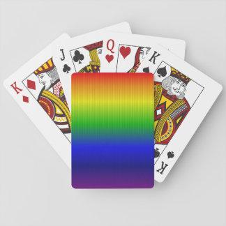 Líneas del arco iris barajas de cartas