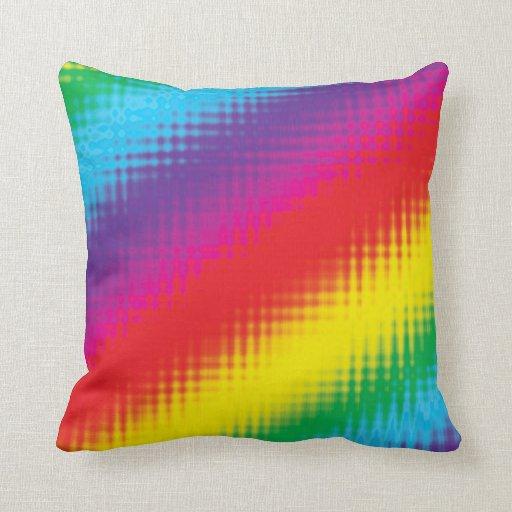 Líneas del arco iris de Digitaces Almohadas
