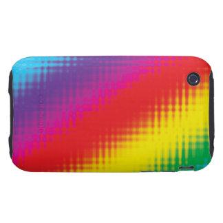 Líneas del arco iris de Digitaces iPhone 3 Tough Funda