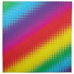 Líneas del arco iris de Digitaces Servilleta De Papel