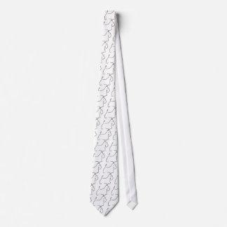 Líneas del escocés corbata personalizada