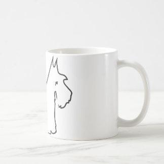 Líneas del escocés taza de café