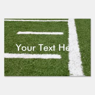 Líneas del fútbol letreros