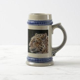 Líneas del leopardo, pintura del leopardo jarra de cerveza