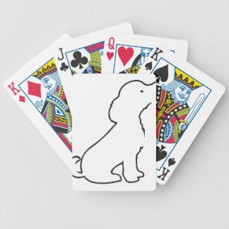 Líneas del perrito barajas de cartas