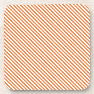 Líneas diagonales anaranjadas posavaso