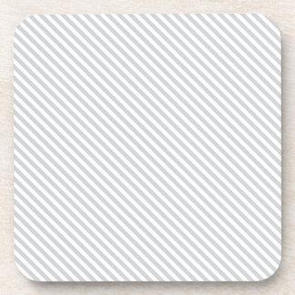 Líneas diagonales grises posavasos de bebidas