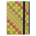 Líneas diagonales rojas y verdes círculos iPad mini protectores