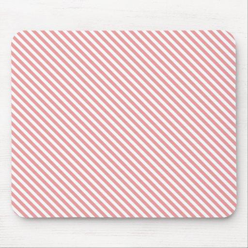 Líneas diagonales rosadas tapete de ratones