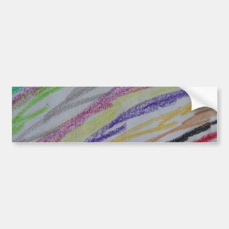 Líneas dibujadas creyón pegatina de parachoque