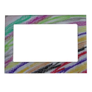 Líneas dibujadas creyón marcos magneticos de fotos