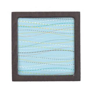 Líneas discontinuas punteadas onduladas de la dive cajas de recuerdo de calidad