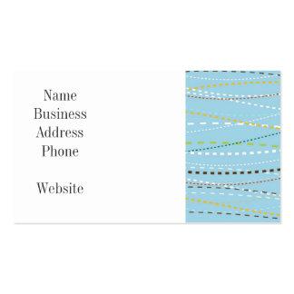 Líneas discontinuas punteadas onduladas de la dive plantillas de tarjetas de visita