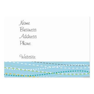 Líneas discontinuas punteadas onduladas de la dive tarjeta de visita