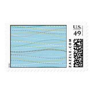 Líneas discontinuas punteadas onduladas de la sello