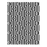 Líneas dobladas blancas negras diamantes de las il postales