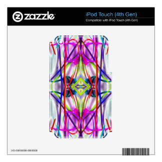 Líneas dobladas perfectas del ciruelo iPod touch 4G skins