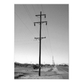 Líneas eléctricas clásicas de Arizona Fotografía