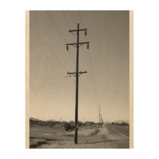 Líneas eléctricas clásicas de Arizona Impresiones En Madera