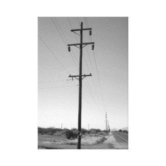 Líneas eléctricas de Arizona del vintage Impresión De Lienzo