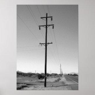 Líneas eléctricas de Arizona del vintage Póster