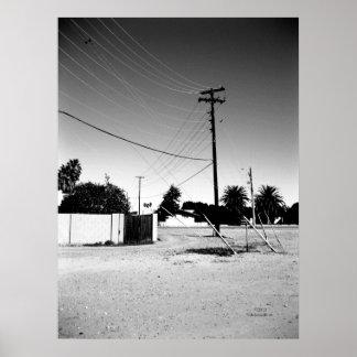 Líneas eléctricas del cerero AZ Póster