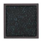Líneas en la parte posterior de la oscuridad caja de recuerdo de calidad