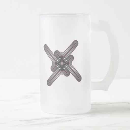 Líneas enrrolladas diseño taza
