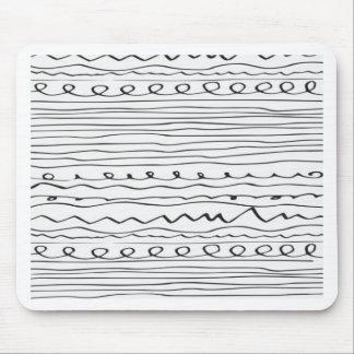líneas escritas mano alfombrillas de ratones