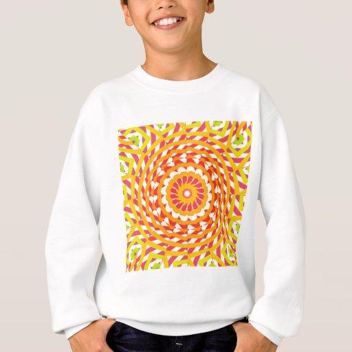 Líneas espirales abstractas: sudadera