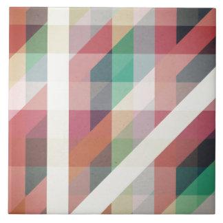 Líneas geométricas abstractas teja cerámica