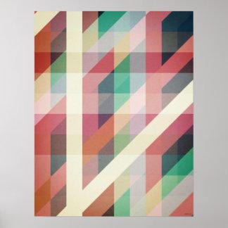 Líneas geométricas abstractas póster