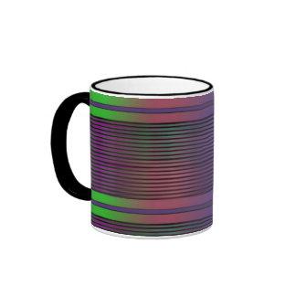 Líneas gráficas horizontales taza de dos colores
