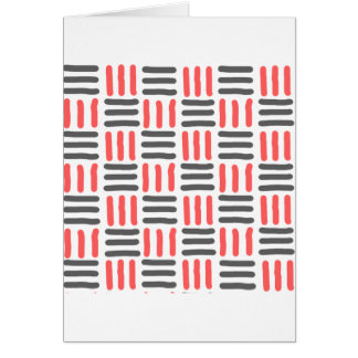 líneas gráfico negras y rojas cortas tarjeta de felicitación