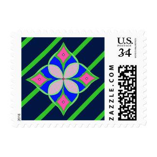 Líneas hermosas sellos de la flor del diseño