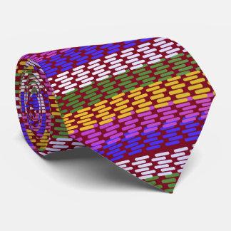 Lineas horizontales abstractas coloridas corbatas personalizadas