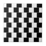 Lineas horizontales de la ilusión óptica de la par azulejo cuadrado pequeño