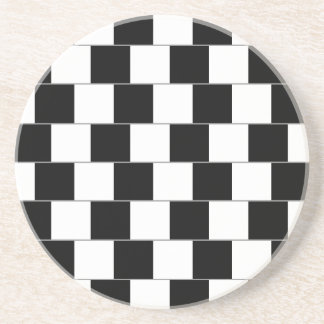 Lineas horizontales de la ilusión óptica de la par posavasos personalizados
