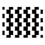 Lineas horizontales de la ilusión óptica de la par tarjeta postal