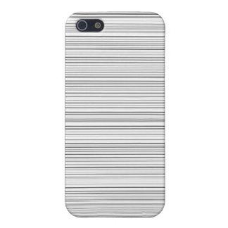 Lineas horizontales elegantes diseño en blanco y n iPhone 5 carcasa