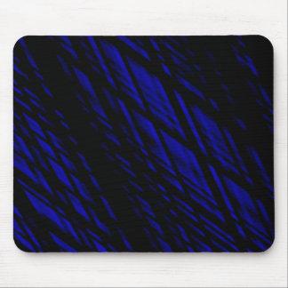 Líneas inclinadas azul marino y negras Rhombus Tapete De Ratones