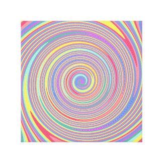 Líneas inclinadas lona del remolino del color impresión en lona estirada