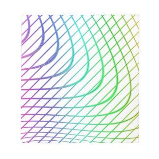 Líneas intemporales coloridas abstractas modelo blocs de papel
