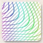 Líneas intemporales coloridas abstractas modelo posavasos de bebidas