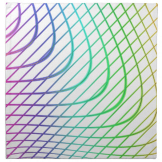 Líneas intemporales coloridas abstractas modelo servilletas