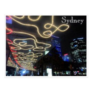 líneas ligeras vivas de Sydney Tarjetas Postales